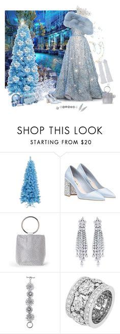 """Christmas blue evening"" by deborah-518 ❤ liked on Polyvore featuring Elie Saab, Jessica McClintock, Oscar de la Renta, Van Cleef & Arpels, Manokhi and contestentry"