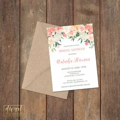 Floral Bridal Shower Invitation, Brunch with the Bride Invitation, Couples Shower Invitation, Engagement Party Invitation - Natasha by DIVart on Etsy