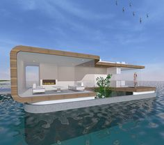 Woonboot ontwerp architect