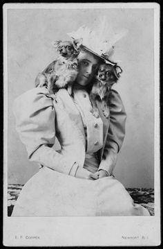 Edith Wharton and her papillons c. 1890  Yale University Beinecke Book & Manuscript Library.
