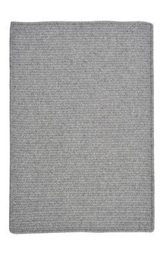 Colonial Mills WM Westminster Braided Light Gray Rug   Solid & Striped Rugs