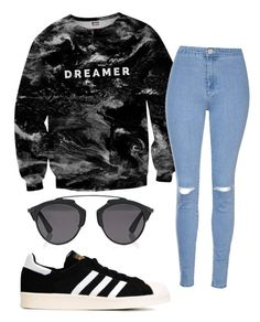 """-Dreamer-"" by eemaj ❤ liked on Polyvore featuring Mr. Gugu & Miss Go, Glamorous, adidas Originals and Christian Dior"
