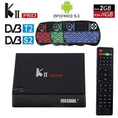 >> Click to Buy << KII PRO DVB S2 T2 Android TV Box 2GB 16GB DVB-T2 DVB-S2 Android 5.1 Amlogic S905 Quad-core WIFI K2 pro 4K Smart TV Box +Keyboard #Affiliate