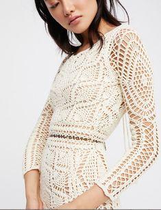crochelinhasagulhas: Inspiração em vestido de crochê