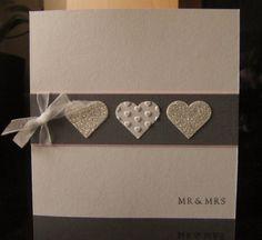 wedding hearts Wedding Shower Cards, Wedding Invitation Cards, Card Wedding, Invitation Ideas, Wedding Cards Handmade, Greeting Cards Handmade, Engagement Cards, Wedding Anniversary Cards, Heart Cards