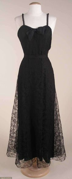 Augusta Auctions, March 21, 2012 NYC, Lot 260: Hattie Carnegie Copy Of Balenciaga Gown, 1937