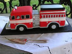 Fire truck groom's cake | Shared by LION