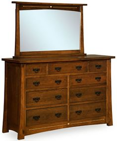 Amish Outlet Store : Mesa Dresser w/Mirror in Oak