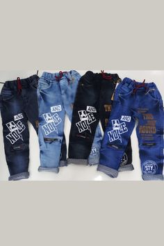 Denim Joggers, Denim Jeans, Jeans Pants, Kids Pants, Boys Jeans, Stylish Jeans, Printed Denim, Kids Fashion Boy, Kids Wear