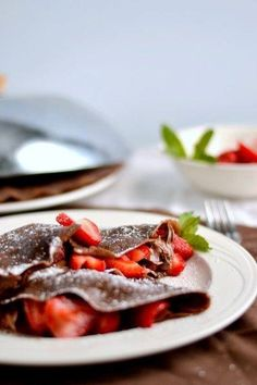 cocoa crepes with berries <3