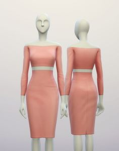 Basic high waist H line pencil dress at Rusty Nail via Sims 4 Updates