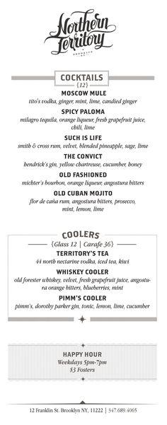 A division of UnderConsideration, cataloguing the underrated creativity of menus from around the world. Cocktail Menu, Grapefruit Juice, Menu Design, Food Menu, Bourbon, Division, Rum, Vodka