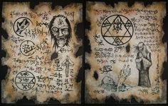 cthulhu VILE NECROMANCY Necronomicon Scrolls occult by zarono, $19.99