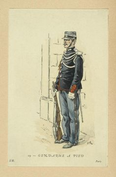 Gendarme a Pied, France, 1896. NYPL Digital Gallery.