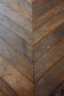 Reclaimed herringbone via Corvelyn (be) - collected by linenandlavender.net - http://www.pinterest.com/linenlavender/corvelyn-be-reclaimed-wood/
