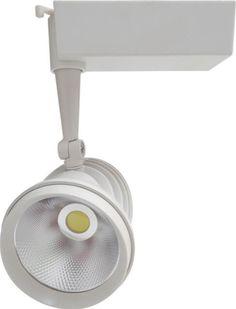 Cu puterea de 40W, SPOTUL LED MAGAZIN, poate inlocui orice spot magazin clasic si are o durata de viata de pana la 50.000 ore, garantate de producator pentru 2 ani. Acesta are carcasa alba si lumineaza cu temperatura de culoare alb rece.