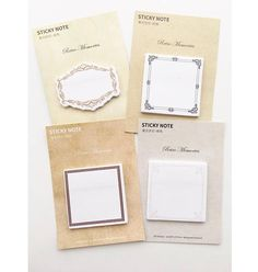 Set of 4 Vintage Frame Sticky Notes