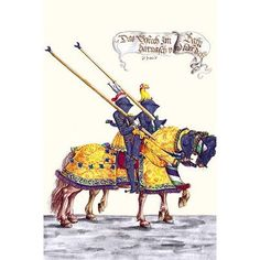 Buyenlarge 'German Knights in Horseback in Procession' by H. Burkmair Painting Print Size: