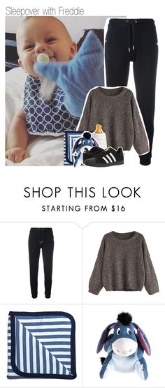 """""""Sleepover with Freddie"""" by isabelapbarreto ❤ liked on Polyvore featuring Zoe Karssen, Monica + Andy and adidas"""