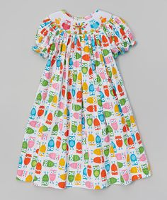 Look what I found on #zulily! Red & Green Owl Bishop Dress - Infant & Toddler by Kandyland #zulilyfinds