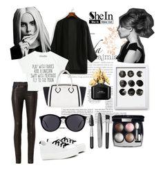 """Black kimono◾️"" by rizqinarahmalia ❤ liked on Polyvore featuring rag & bone, Furla, Kenzo, Chanel, Marc Jacobs, Sephora Collection and Yves Saint Laurent"