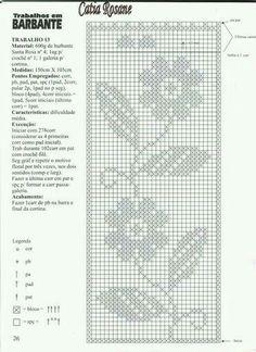 Gráfico para cortina de croche