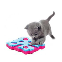 The MixMax Puzzle, is a new concept of activity game whereby you can use one game by itself or create your own 'big game' by combining several together. Hide treats or dry food through the hole in the top of each block and let your cat figure out how to find them by sliding the blocks through one of the openings.