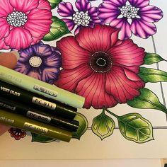 Pretty Creative (@prettycreative04) • Photos et vidéos Instagram Adult Coloring Book Pages, Coloring Book Art, Coloring Tips, Leaf Coloring, Blending Colored Pencils, Color Blending, Color Mixing, Prismacolor, Copics
