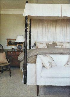 Master bedroom - settee end of bed - Nancy Braithwaite