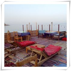 The roof terrace at Forsha's Egyptian Kitchen - friendly family-run restaurant in Dahab, South Sinai, Egypt. TripAdvisor Certificate of Excellence 2015