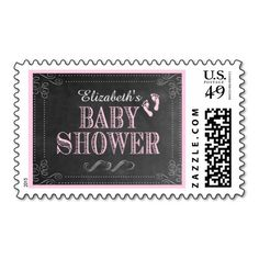 Chalkboard Look Baby Shower- Stamp