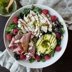Spring Green Salad With Orange Cilantro Vinaigrette via @feedfeed on https://thefeedfeed.com/whole30/thefeistykitchen/spring-green-salad-with-orange-cilantro-vinaigrette