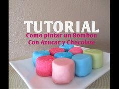 Cómo pintar azúcar de colores para decorar una paleta de bombón - Madelin's Cakes - YouTube