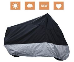 RockyMRanger Breathable Motorcycle Cover Cruisers Touring Bikes Storage, Motorcycle Covers