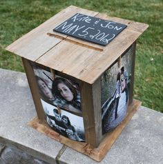 Personalized Cardbox - except I would want the wood painted!