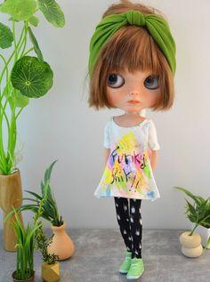 Blythe outfit pants set by Pomipomari OOAK by Pomipomari