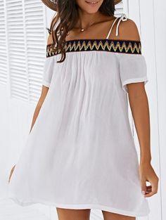 Vestido de cambio de bordado Cami