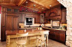 Rustic Kitchen Ideas   Cozy-rustic-kitchen-ideas-with-wooden-furniture-design   Modern Home ...