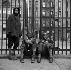 Gordon Parks Artwork | Gordon Parks. 'Street Scene: Three young boys, Harlem, NY, 1943' 1943