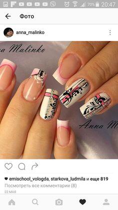 and Beautiful Nail Art Designs Lace Nail Art, Lace Nails, Pink Nails, Gel Nails, Acrylic Nails, Nail Art Arabesque, Nagel Gel, Fabulous Nails, Beautiful Nail Art