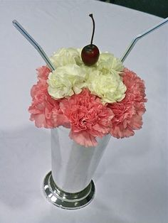 50's party centerpiece this would be cute for a sock hop