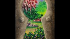 Secret Garden Step by Step Acrylic Painting on Canvas for Beginners