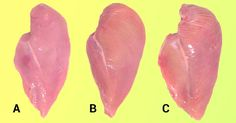 Be careful when you buy food : What do the white stripes on chicken meat mean?