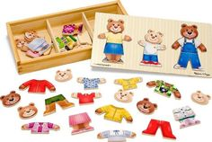 Amazon.com : Melissa & Doug Wooden Bear Family Dress-Up Puzzle : Melissa And Doug : Toys & Games