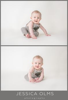 August | 6 Months  Baby boy pictures - almost sitting