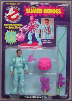 Kenner The Real Ghostbusters Slimed Heroes: Winston Zeddmore 1986 Ghostbusters Pictures, Ghostbusters Slime, The Real Ghostbusters, 1980s Toys, Retro Toys, Vintage Toys, Hollywood Monsters, Garbage Pail Kids, Ghost Busters