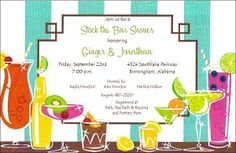 Great Stock the Bar Couples Shower Invitation  http://www.alansinvitations.com