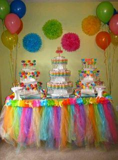 decoracion de fiestas con TUL