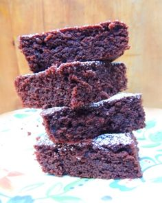 Gluten-free Brownies made with almond flour - scrumptious!