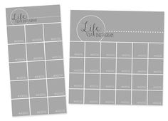 Instagram photo collage templates for use with #projectlife. Size 6x12 and 12x12. #scrapbooking
